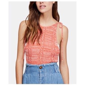 Free People | NWT Coral Bombshell Open-Knit Top